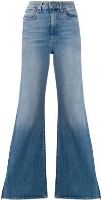 Alice + Olivia Alice+Olivia wide leg side-zip jeans