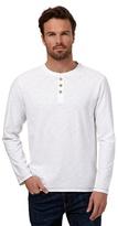 Mantaray White Long Sleeved Grandad Top
