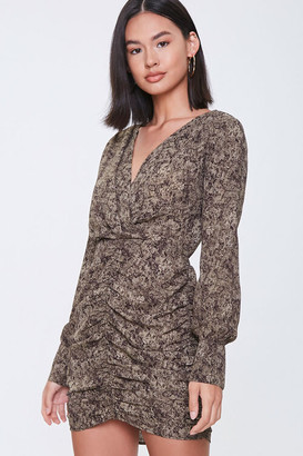 Forever 21 Snakeskin Print Mini Dress