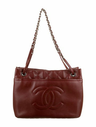 Chanel Timeless Soft Shopper Tote silver