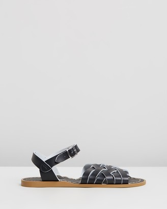 Saltwater Sandals - Women's Black Strappy sandals - Womens Retro Sandals - Size 3 at The Iconic