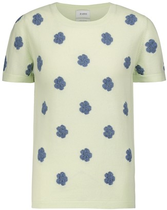 Barrie Embroidered cashmere and cotton T-shirt