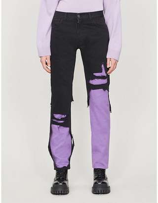 Raf Simons Distressed tapered jeans