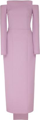 Emilia Wickstead Off-The-Shoulder Crepe Dress