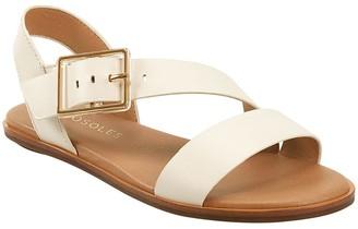 Aerosoles Flat Leather Sandals - Lewis