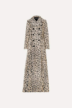 Dolce & Gabbana Double-breasted Leopard-print Cotton-blend Faux Fur Coat - Leopard print