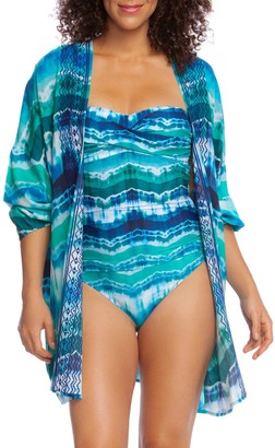La Blanca Tie Dyed Long Sleeve Cover Up