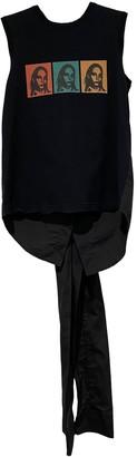 Christian Dada Black Cotton Tops