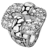 John Hardy Kali Silver & White Topaz Statement Ring