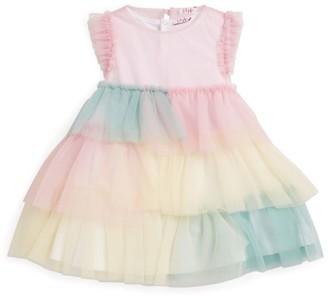 Il Gufo Rainbow Ruffle Dress