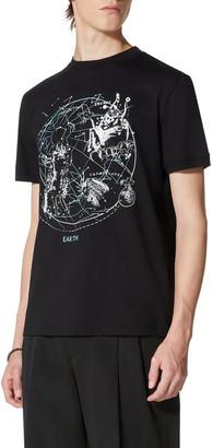 Valentino Men's Earth Zodiac Graphic T-Shirt