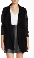 Sisters Heather Sleeved Asymmetrical Cardigan