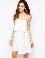 TFNC Bandeau Dress With Bow Detail