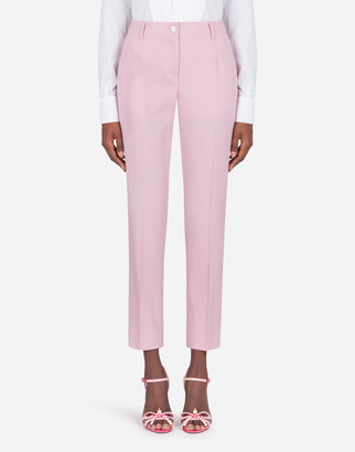 Dolce & Gabbana Low-Waisted Woolen Fabric Pants