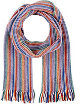 Drakes Drake's DRAKE'S MEN'S WOOL-BLEND STOCKINETTE-STITCHED SCARF