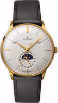Longines 027/7202.01 Meister Kalendar leather and gold-plated moon phase watch