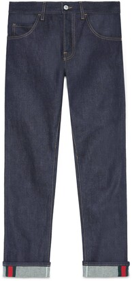 Gucci Tapered jeans with Web