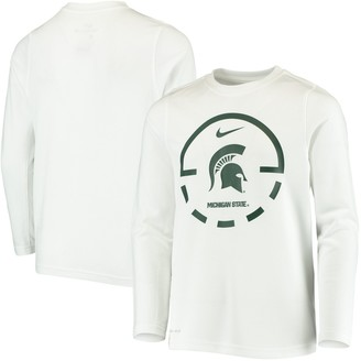 Nike Youth White Michigan State Spartans Basketball Legend Performance Long Sleeve T-Shirt