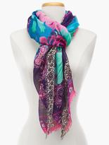 Talbots Floral Paisley Scarf