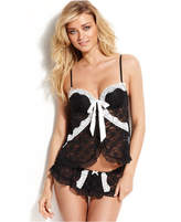 Linea Donatella Lace Trim Molded Cup Cami Babydoll