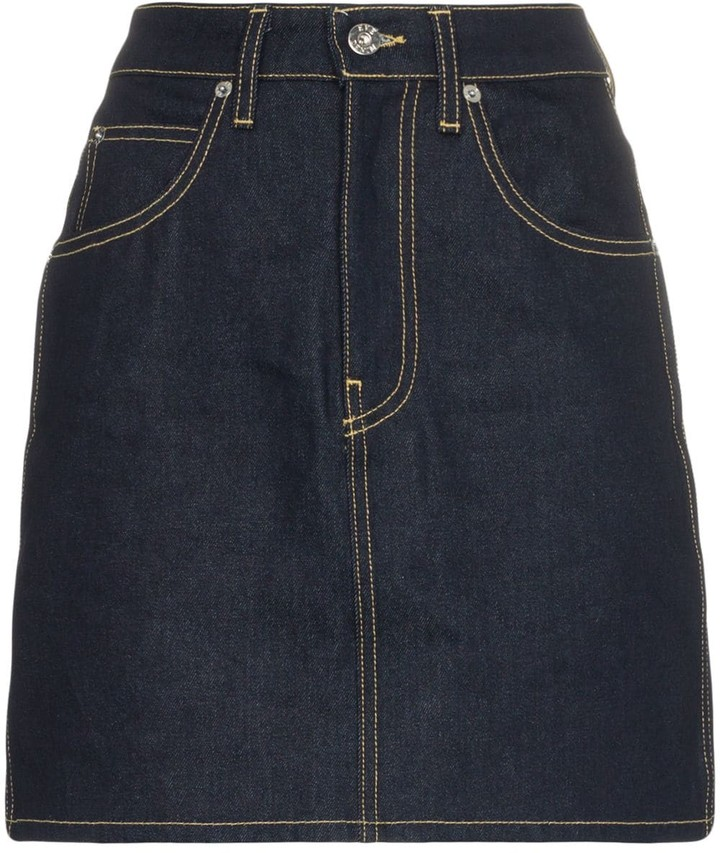 Eve Denim Tallulah high waisted cotton skirt