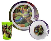 Nickelodeon Zak Designs® 3 Piece Teenage Mutant Ninja Turtles Dinnerware