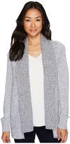 Lilla P Long Sleeve Mixed Stitch Cardigan Women's Sweater