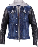 DSQUARED2 Leather And Denim Jacket
