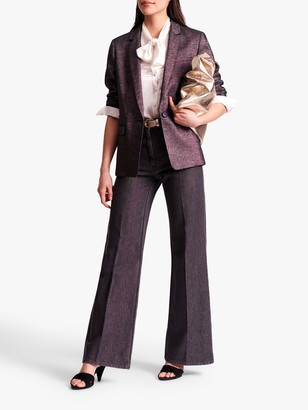 Gerard Darel Iridescent Tailored Jacket, Light Beige