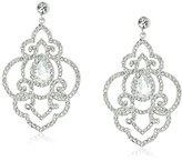 """Carolee The Cloisters"""" The Cloisters Clear Crystal Openwork Pierced Earrings"""