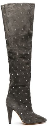 IRO Fern Studded Over-the-knee Suede Boots