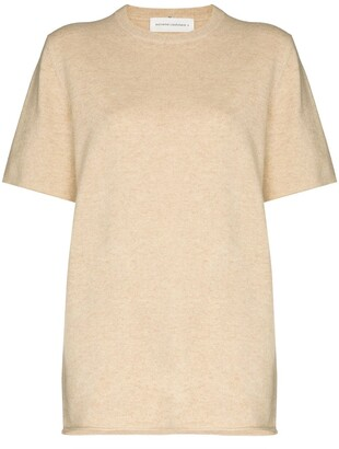 Extreme Cashmere Short-Sleeve Knit Top
