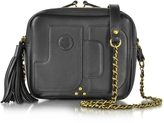 Jerome Dreyfuss Pascal Black Leather Small Square Crossbody bag