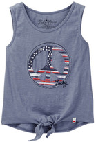 Lucky Brand Peace Sign Tank with Knot Detail (Little Girls)