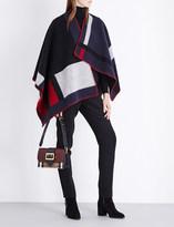 Burberry Mega check wool cape