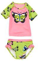 Crazy 8 Butterfly Rash Guard Set