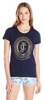 Juicy Couture Black Label Women's Logo Sunburst Short Sleeve Tee