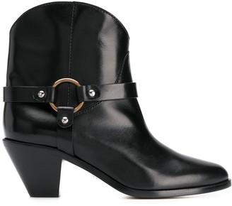 Francesco Russo Strap-Embellished Ankle Boots