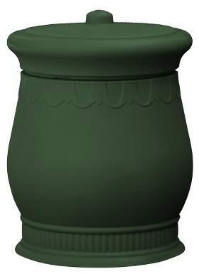 Good Ideas Savannah Decorative 30 Gallon Storage and Waste Basket Urn, Green