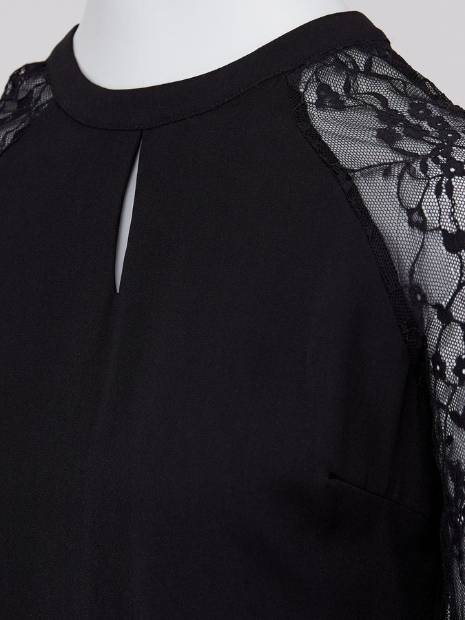 Thumbnail for your product : Dorothy Perkins Lace Midi Dress - Black