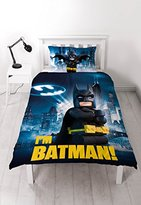 Lego Batman Movie Hero Single Duvet Set with Large Print Design