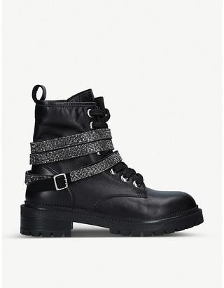 Carvela Tuxedo leather biker boots