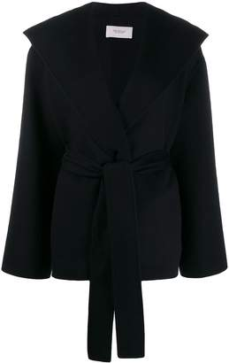 Pringle oversized collar hooded jacket