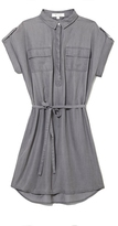 Vince Camuto Two by Split-neck Shirtdress