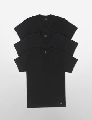 Calvin Klein Cotton Classic Fit 3-Pack Short Sleeve V-Neck T-Shirt