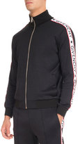 Givenchy Track Jacket with Logo Taping, Black