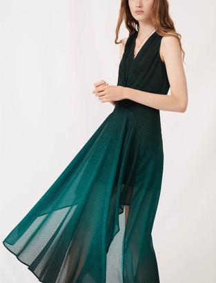 Maje Printed jacquard scarf dress