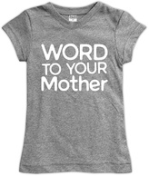 Urban Smalls Spot Gray 'Word to Your Mother' Fitted Tee - Toddler & Girls