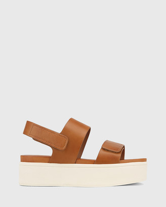 Wittner - Women's Brown Sandals - Jolly Leather Slingback Flatform Sandals - Size One Size, 37 at The Iconic