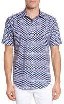 Bugatchi Men's Shaped Fit Apple Print Sport Shirt